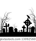 death, crow, cemetery 13092560