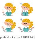 女性 姿勢 表達式 13094143