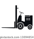 Forklift Icon, Vector Illustration 13094654