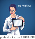 beautiful doctor with computer tablet medical apps 13094890