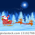 Santa Claus in Sled 13102766