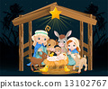 Holy Family at Christmas night 13102767