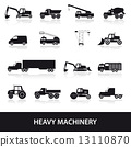 heavy, icons, machine 13110870