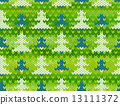 Vector seamless knitted pattern with trees 13111372