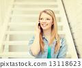 sitting, listening, calling 13118623