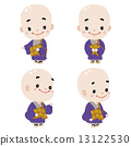 bald, person, buddhist priest 13122530