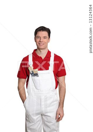 painter, overalls, man 13124364