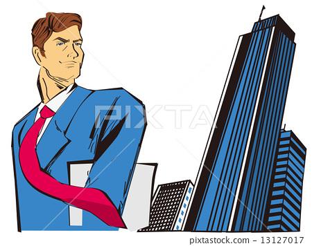 미국 만화 풍의 비즈니스 센터의 사업 13127017