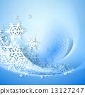 winter, vector, snowflake 13127247