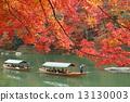 교토 가을의 아라시야마 단풍과 놀잇배 13130003