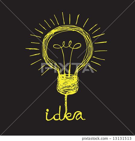 Light bulb icon Doodle hand drawn Illustration 13131513