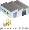 공장, 벡터, 포크리프트 13136484