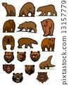 벡터, 짐승, 곰 13157779