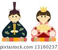 dolls for girl's festival, hinamatsuri, set of ornamental dolls for japanese girls' day 13160237