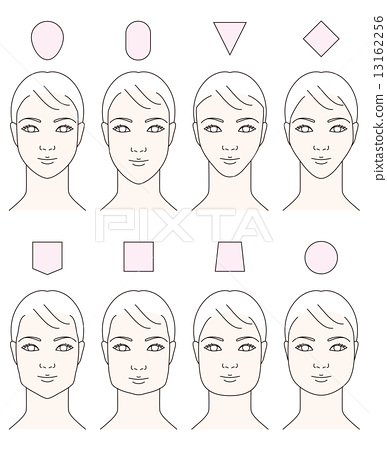 Awesome Female Face Shape By Type Stock Illustration 13162256 Pixta Schematic Wiring Diagrams Amerangerunnerswayorg