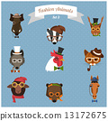 hipster, animal, set 13172675