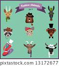 Fashion Hipster Animals set 4 13172677