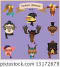 Fashion Hipster Animals set 5  13172679