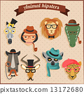 Cute fashion Hipster African Animals  13172680