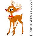 Cute Christmas reindeer Rudolf 13173204
