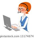 operator, female, lady 13174674