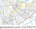 地圖 矢量 川崎 13176375