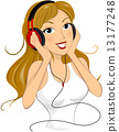 headphone, listening, girl 13177248