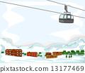 Ski Lodge Background 13177469