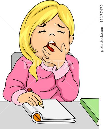 Yawning Girl 13177479