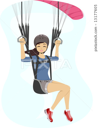 Paragliding Girl 13177605