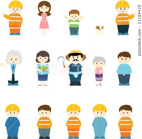 character variety illustration vector 13189420