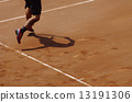 Tennis at clay court 13191306