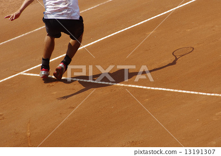 Tennis at clay court 13191307