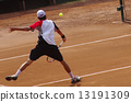Tennis at clay court 13191309