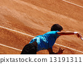 Tennis at clay court 13191311