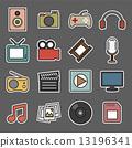 multimedia sticker icon 13196341
