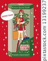 Christmas card Santa Girl 13199237
