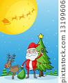 deer santa reindeer 13199606
