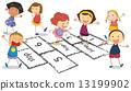 hopscotch, children, child 13199902