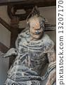 Horyu-ji Temple世界遗产神社雕像Niio 13207170