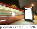 Blank billboard in bus stop 13207282