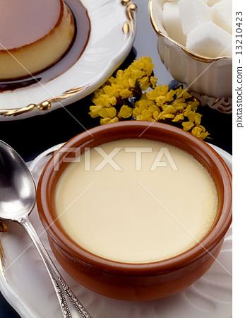 Custard with Caramel. Flan and Sugar 13210423