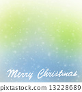 Merry Christmas greeting card border 13228689