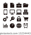 Business icon set 13234443