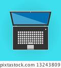 front, cartoon, laptop 13243809