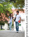 Young, student, lifestyle, education, casual, young couple, youth, pretty, handsome, outdoor, campus 13243910