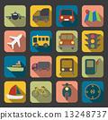 flat transport icon 13248737