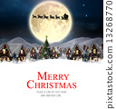 Composite image of merry christmas 13268770