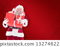 Composite image of santa carries a few presents 13274622