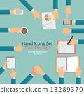 Hand icons set 13289370